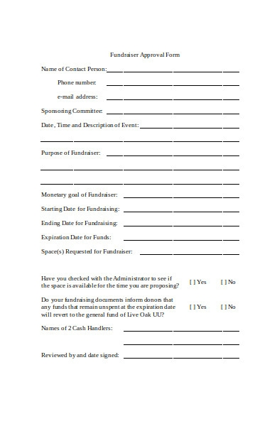 church approval form