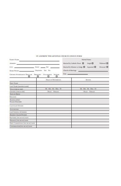 church census form