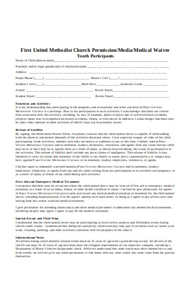 church permission form