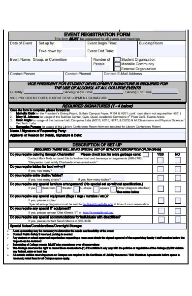 college event registration form
