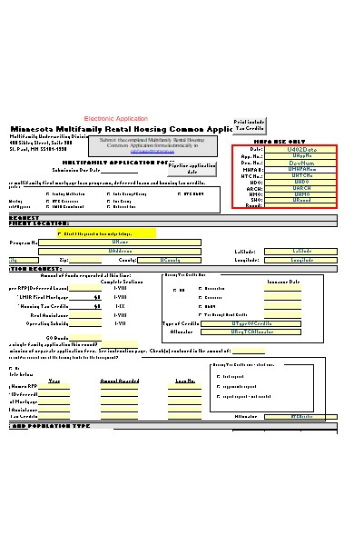 common rental application form1