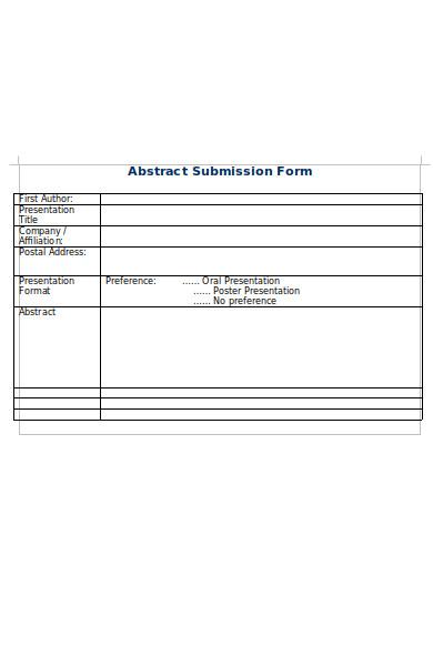 company abstract form