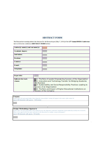conference abstract form