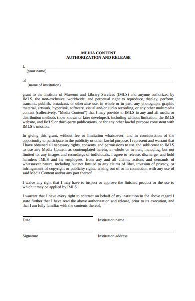 content authorization form