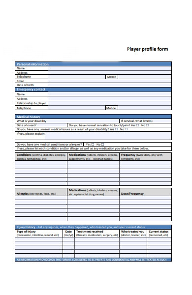 content form sample