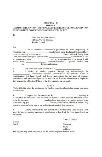 corporation final payment form