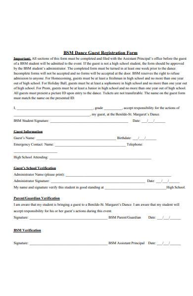 dance classic registration form