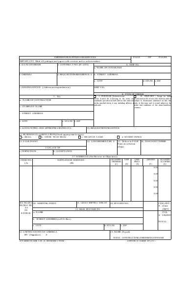 delivery order for supplies form