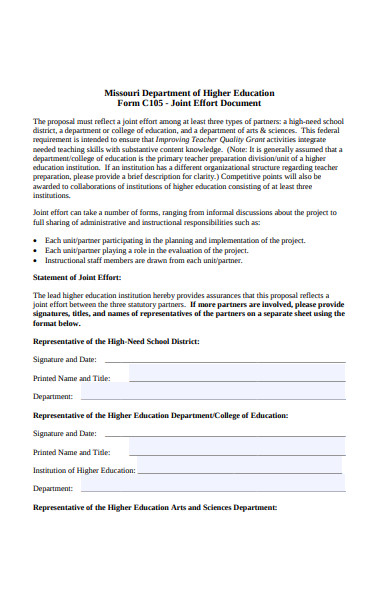 department of higher education form