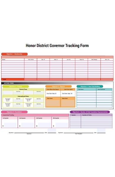district tracking forms