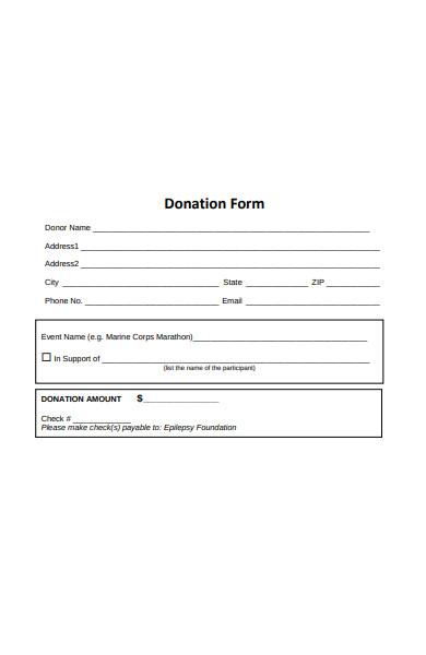 donation pledge form