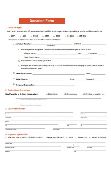donation tax form