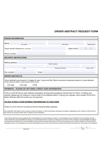 driver abstract request form