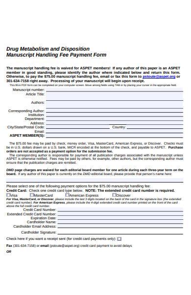 drug payment form