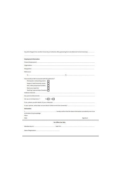 employee alumni form