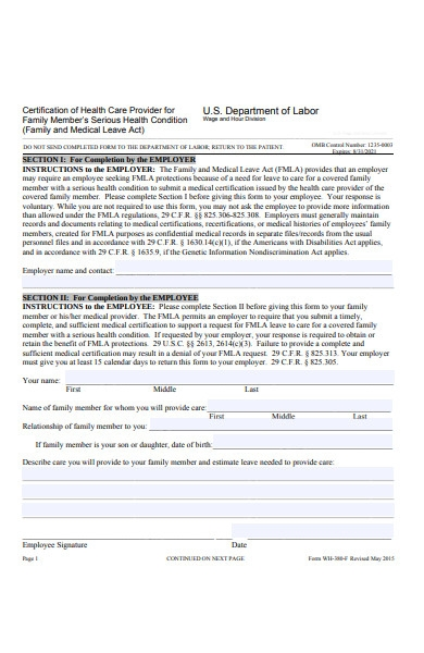 employee healthcare form