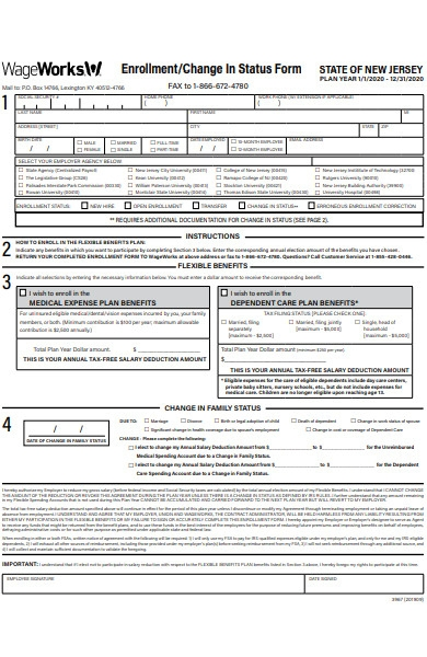 enrolment status form