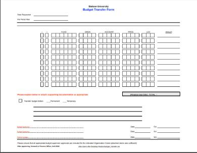 fillable budget transfer form