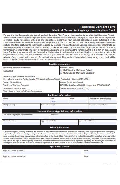 fingerprint consent form