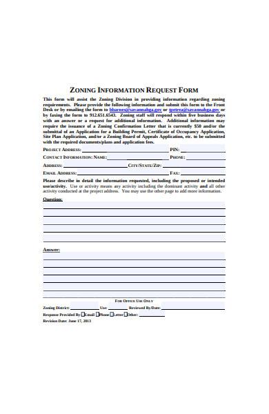 formal information request form1