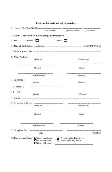 foundation membership form