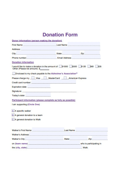 general donation form