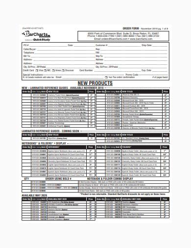 general order form sample