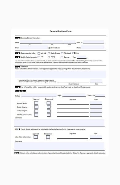 general petition form