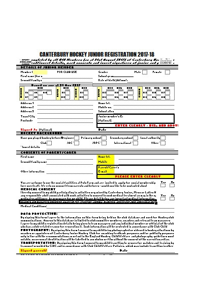 general sports registration form1