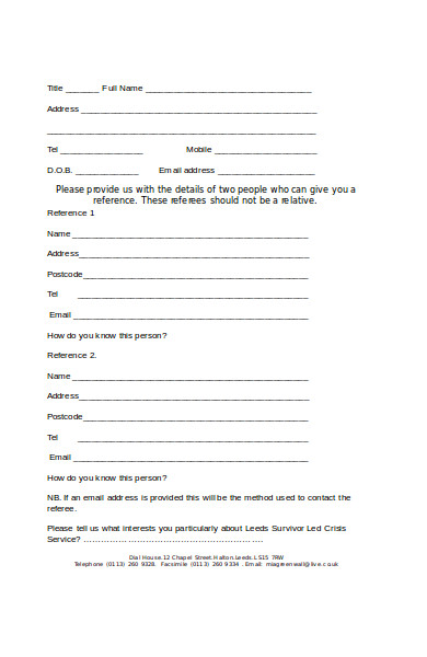 group work volunteer application form