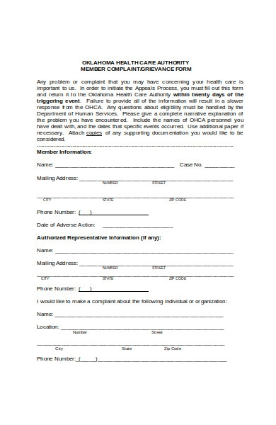 healthcare authority form