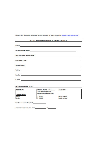 hotel accommodation booking form1