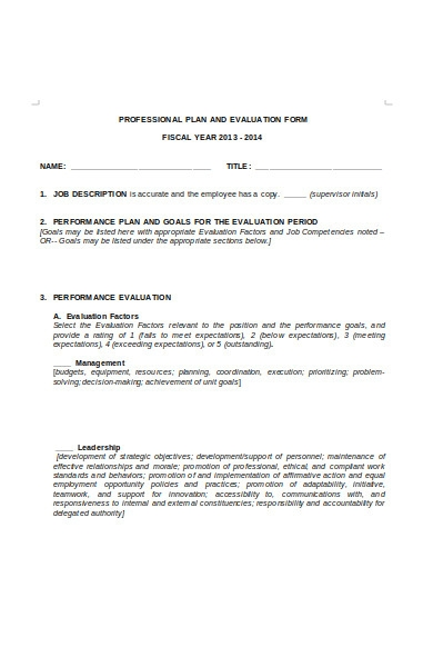 human resources evaluation form