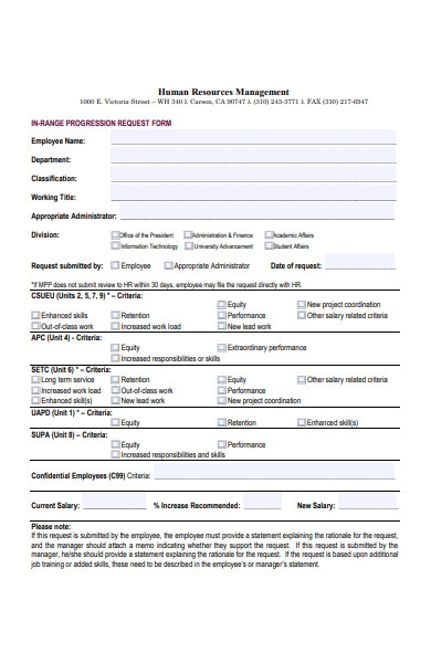 human resources management form