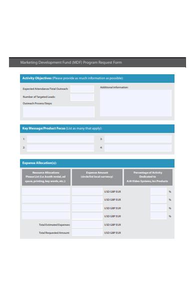 marketing development fund program request form