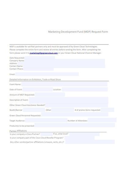 marketing development fund request form in pdf