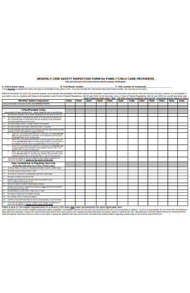 monthly safety inspection form