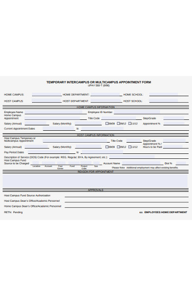 multicampus appointment form