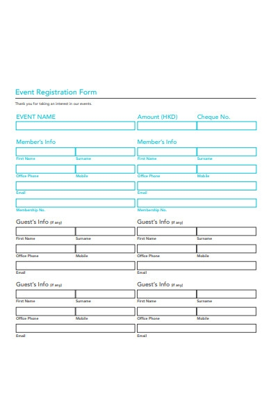 museum event registration form