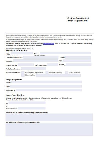 open content request form