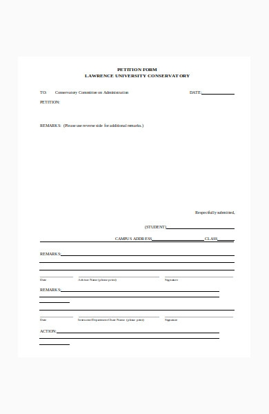 petition form in doc