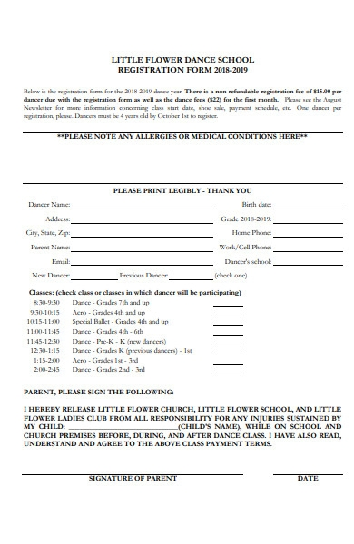 printable content form