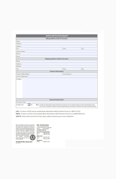 products service form