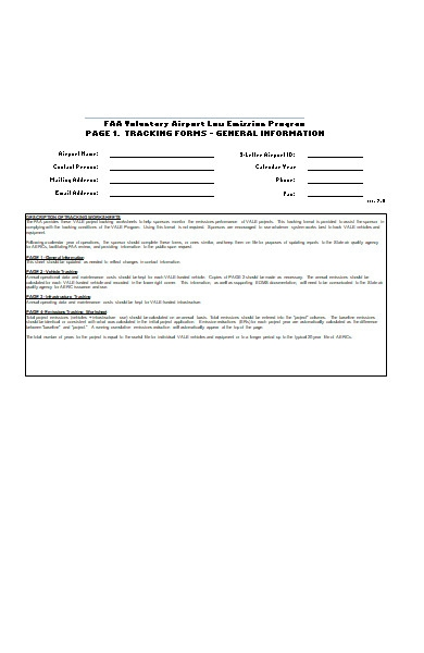 project tracking form