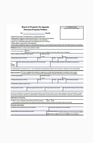 property petition form