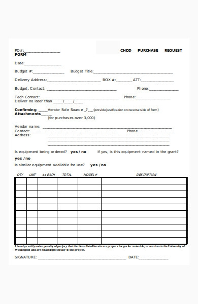 purchase order request form in doc
