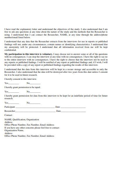 qualitative research consent form