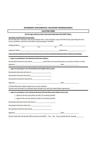 rsvp election form