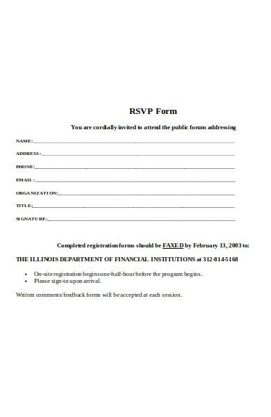 rsvp forum form