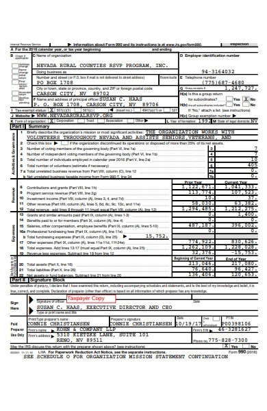 rsvp income tax form